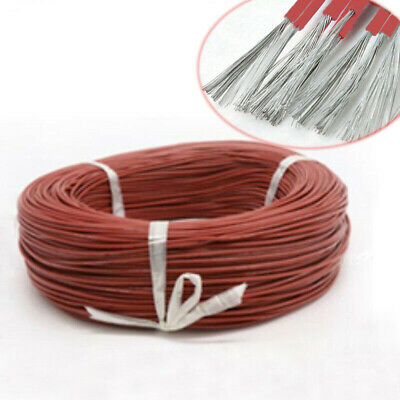 Brown UL3239 Silicone Stranded Cable Wire 16/18/20/22/24/26/28/30 AWG 3KV 200°C