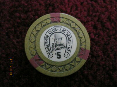 $5 Horseshoe Club Las Vegas Casino Chip