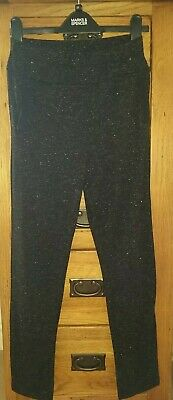 Girls Black Glitzy Comfy Trousers  Age 11-12 Years