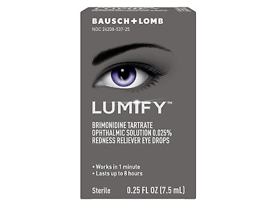New Bausch + Lomb Lumify Redness Reliever Eye Drops 0.25 Fl. OZ. (7.5 ML)