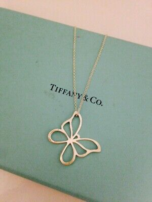 """Tiffany & Co. Sterling Silver Butterly Pendant Necklace, Chain 16"""""""