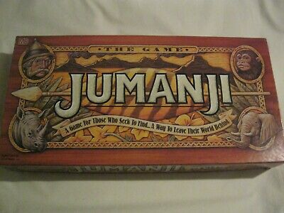 1995 Jumanji Board Game 100% Complete Excellent Condition