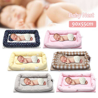 0.9M Baby Nest Cot Snuggle Portable Bed Pillow ress Surround Pillow Warm