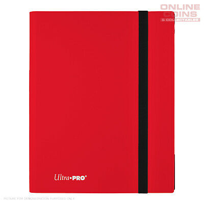 Ultra-Pro ECLIPSE Pro Binder RED - Holds 360 Cards - With 20 x 9 Pocket Pages