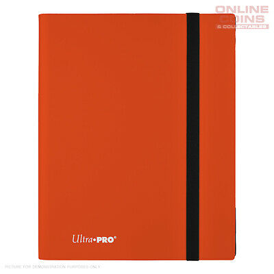 Ultra-Pro ECLIPSE Pro Binder ORANGE - Holds 360 Cards - With 20 x 9 Pocket Pages