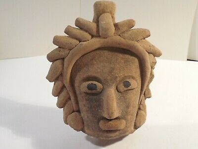 Big Vera Cruz Remojadas Head Pre-Columbian Antiquity Ancient Artifact Mayan #2