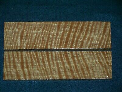 Aaaaa Jumbo Curly Satinwood Knife Scales  #0305