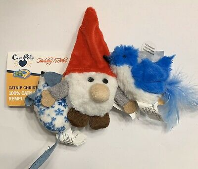 OurPet's / PetZone Play-N-Squeak Christmas Holiday Cat Toy Combo X3 !!