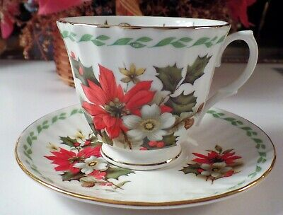 """Vintage Duchess Fine Bone China Made In England Cup & Saucer """"December"""""""
