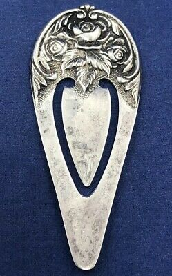S. Kirk and Son Sterling Silver Repoussé Book Mark - No Monogram