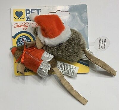 PetZone Electronic Christmas Holiday Mice! Mr. And Mrs. Clause!
