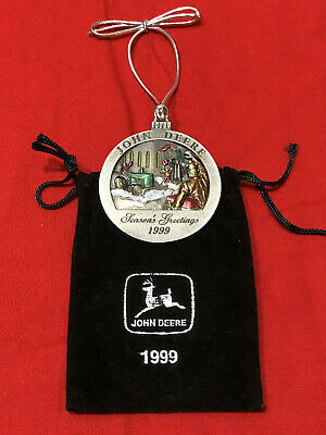 1999 John Deere Limited Edition Pewter Christmas Ornament – No 4 in series