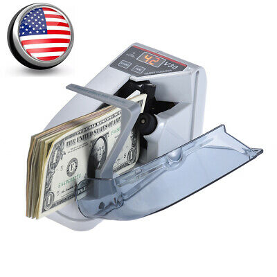 Mini Efficient Handy Cash Banknote Currency Counter Money Counting Machine L3Y9