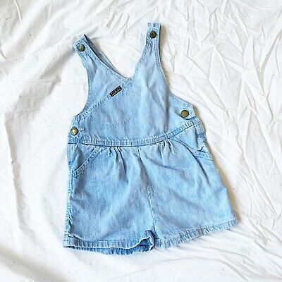 Vintage Girls Size 5 Oshkosh Overall Shorts