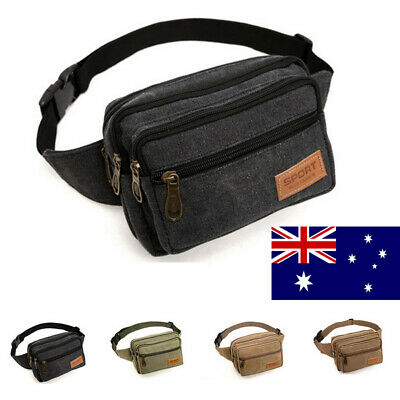 Money Belt travel bag secure waist zip Pouch RFID-Blocking Card/Passport Sleeves