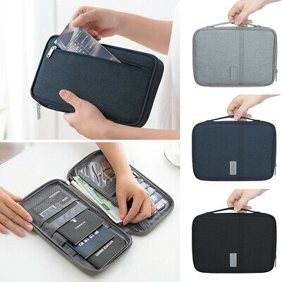 RFID Blocking Passport Card Holder Pouch Security Security Travel Wallet Bag