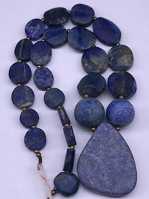 Unique Roman Old Wonderful Lapis lazuli stone Beads Necklace