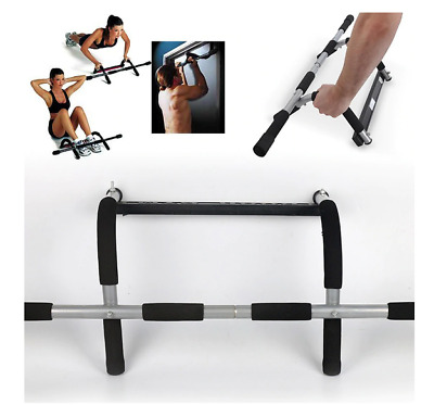 Doorway Chin Up Horizontal Bars Steel 110kg Adjustable Home Gym Workout Push Up