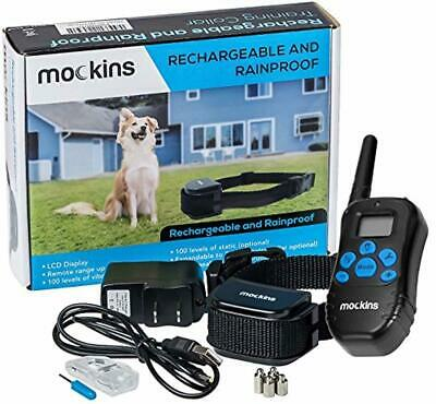 Remote Dog Training Collar Pet Trainer Electronic Shock Electric Waterproof Bark