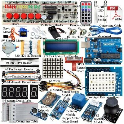 Kit 32 Lessons Ultimate Starter learning for Arduino UNO R3 LCD1602 Motor Servo