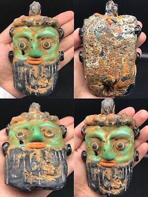 Old Rare Wonderful Mosaic Glass Big Face Pendant