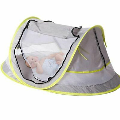 2X(Baby Travel Bed, Portable baby beach tent UPF 50+ Sun Shelter, Baby Trav Q9A8