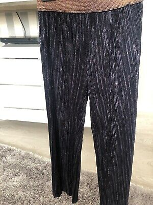 Girls Ted Baker Navy Flare Trousers Age 5