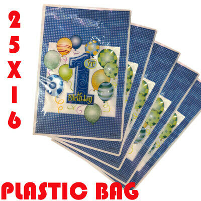 Plastic Carrier Bag - Modern Printed Strong Gift Shopping Bags - All Sizes