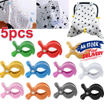 5Pcs Pram Pegs UK Toy Stroller Peg Hook To Blanket Clip Car Seat Cover Clips