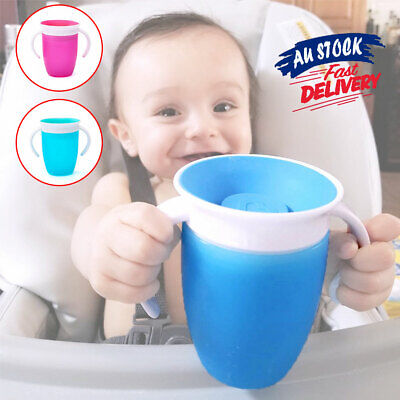Non Proof 360Trainer Baby Sippy Spill Cup Chew Training Miracle Toddler