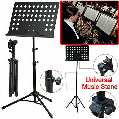 Music Stand Heavy Duty Metal Foldable Holder Tripod Conductor Sheet UK