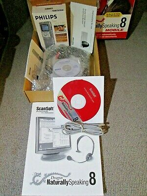 Dragon Naturally Speaking 8 Mobile, With Philips Digital Voice Recorder, UNUSED.