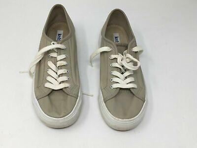 Keds With Lycra Womens US 6 Tennis Shoes Stone Beige Leather Sneakers