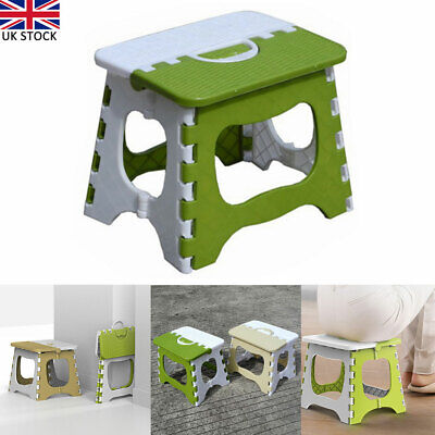 Plastic Multi Purpose Folding Step Stool Home Kitchen Easy Storage Seat Foldable