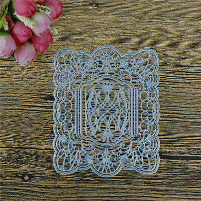 Rectangle Hollow Lace Metal Cutting Dies For DIY Scrapbooking Album Paper CaYNFK