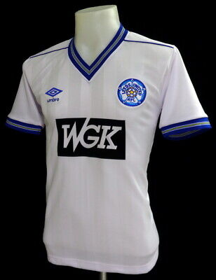 Leeds United 1984 Home Wgk Retro Football Shirt Size Xl 46-48""