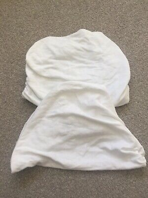 Mothercare White Fitted Sheets For Moses Basket
