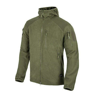 HELIKON-TEX Tactical ALPHA GRID HOODIE FLEECE HOODY JACKE OLIV Green XXXLarge