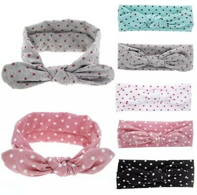 Baby toddler Child Fabric headbands tie up knot head wrap girls hair