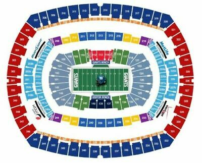 NY Giants vs. Eagles 12/29/19 - 4 Tickets + Parking Pass - Section 335,  Row 19