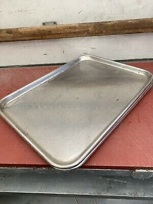 3 X Very Large Butchers. Deli. Stainless Steel Trays joblot