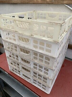 7 x Shallow Crates 48 x 54 x 9.5 Butchers  Plastic Boxes Stacking Trays