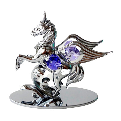 CRYSTAL ORNAMENTS CRYSTOCRAFT FAIRYHORSE WITH SWAROVSKI ELEMENTS (with Box)