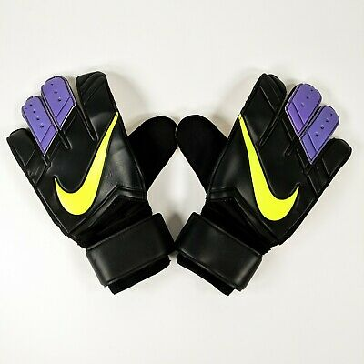 Nike GK Vapor Grip 3 CL Goalkeeper Gloves Sz 10 Black/Purple Soccer PGS195-010