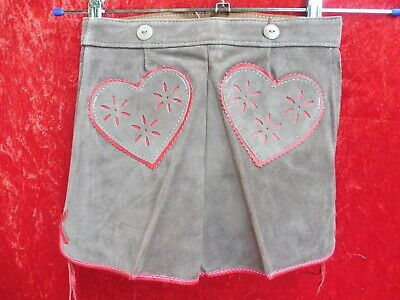 High Quality Leather Pants, Size 110, Made in Germany, Shorts, Hearts