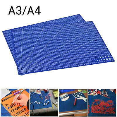 A3 A4 PVC Self Healing Cutting Mat DIY Craft Quilting Grid Lines Printed Board