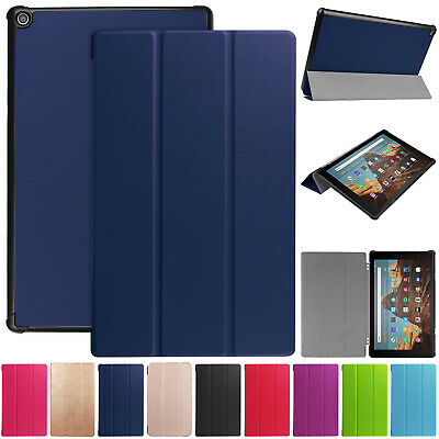 For Amazon Fire HD 10 2019 9th Gen Case Smart Flip Leather Folding Stand Cover