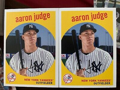 2018 Topps Archives Aaron Judge #31 New York Yankees Lot Of 2