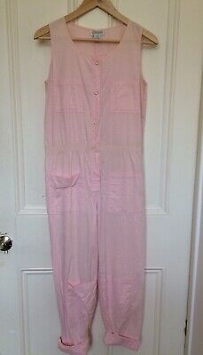 Original Vintage 80s Pink Jumpsuit | Small | 100% Cotton | Amazing Condition!