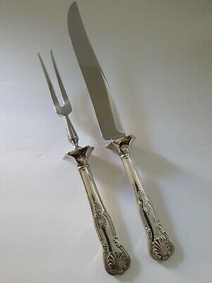 Vintage Sheffield England Carving set - Silverplate/Stainless